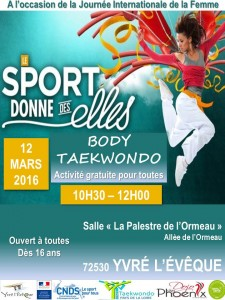 Affiche - Stage Body Taekwondo - 12 03 2016